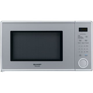 Sharp Pearl Silver Mid-Size 1.1-cubic Foot 1000-watt Microwave Oven