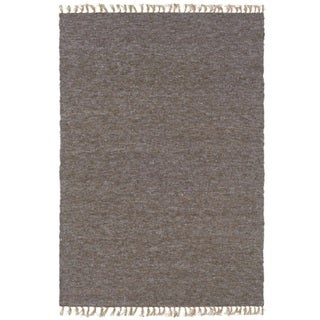 Verginia Berber Brown/ Blue Area Rug (3'5 x 5'5)