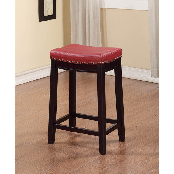 Linon Claridge Red Counter Stool Overstock Shopping