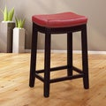 Linon Claridge Red Counter Stool