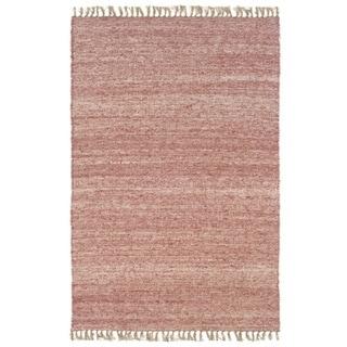 Verginia Berber Red/ Natural Area Rug (3'5 x 5'5)