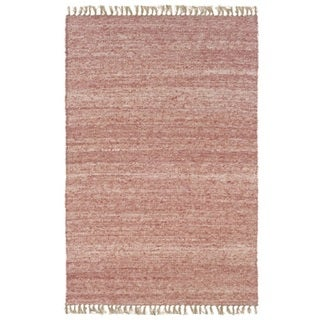 Verginia Berber Red/ Natural Area Rug (5'3 x 7'6)