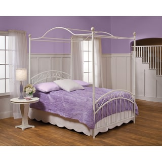 White 'Emily' Scrollwork Canopy Bed Set