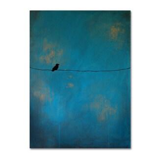 Nicole Dietz 'Lone Bird Blue' Canvas Art