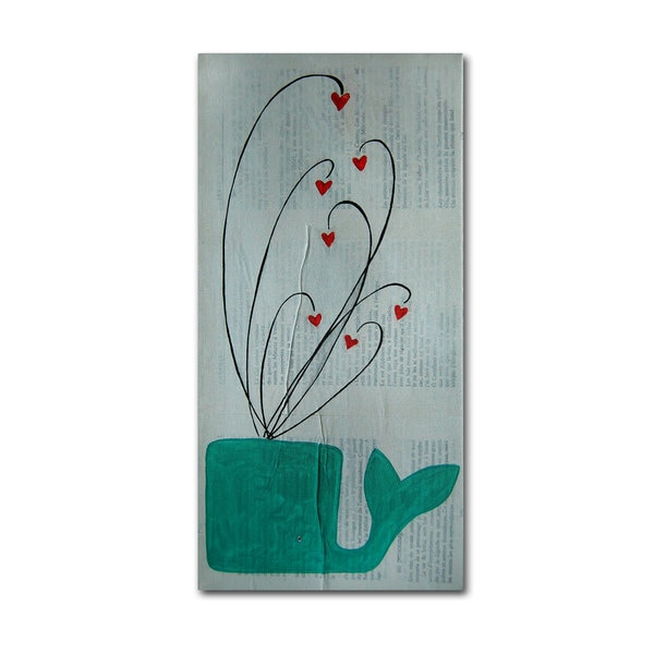 Nicole Dietz 'Whale Spouting Hearts' Canvas Art