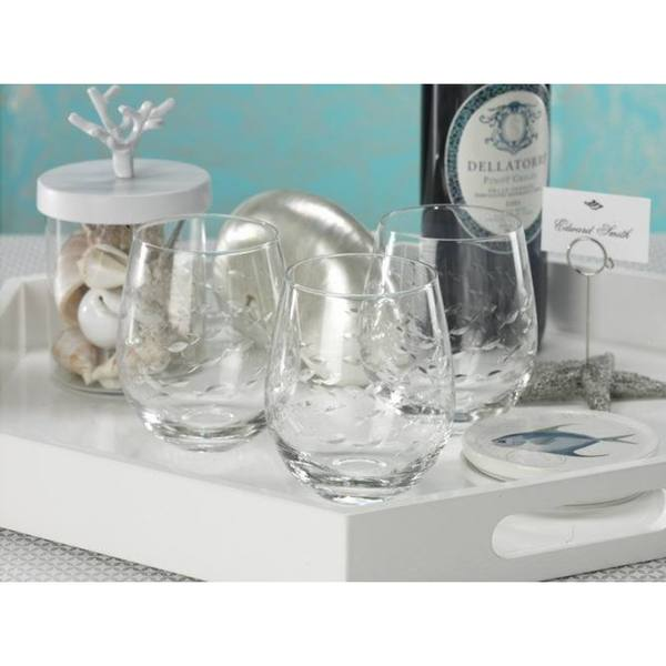 'Coral Beach' Clear Glass Tumblers (Set of 6)