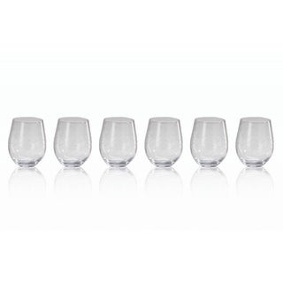 'Coral Beach' Clear Glass Tumblers (Set of 6)