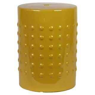 Yellow Ceramic Stool