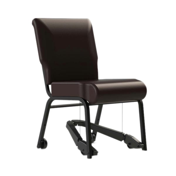 ComforTek Seating 20-inch Armless Metal Frame Chair with Vinyl Seat