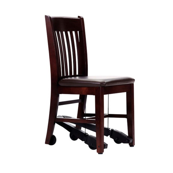 ComforTek Seating 18-inch Mahogany Chair with Espresso Vinyl Seat