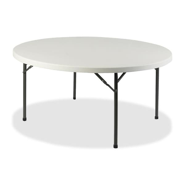 Lorell platinum 60 inch round banquet folding table for 52 folding table