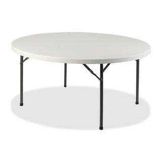 Lorell Platinum 60-inch Round Banquet Folding Table