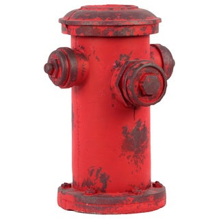 Red Cement Fire Hydrant