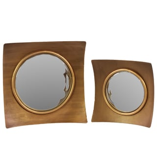 Wooden Mirror (Set of 2)