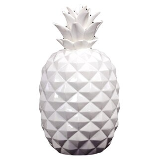 Large White Ceramic Pineapple