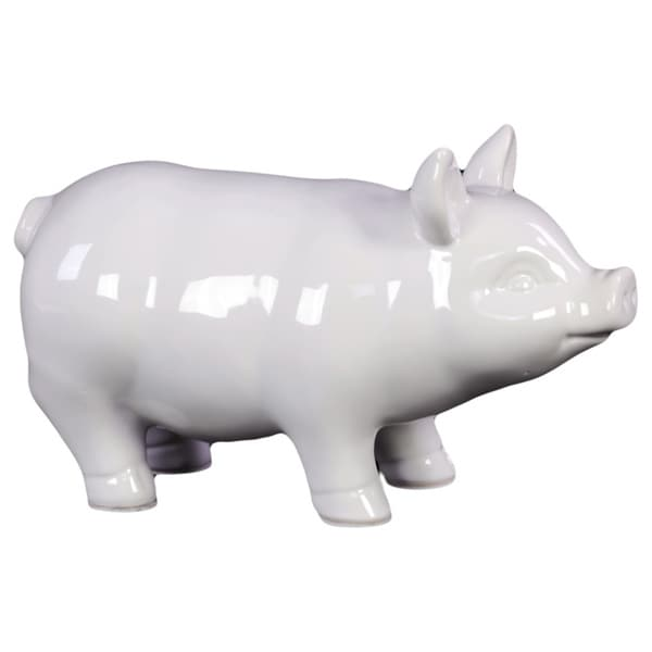 Small White Ceramic Pig