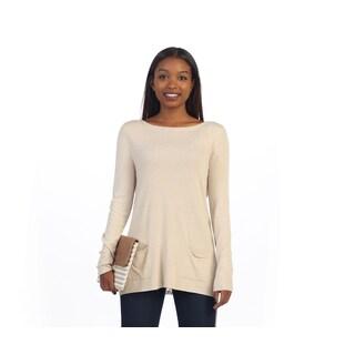 Hadari Women's Long Sleeve Sweater Tunic