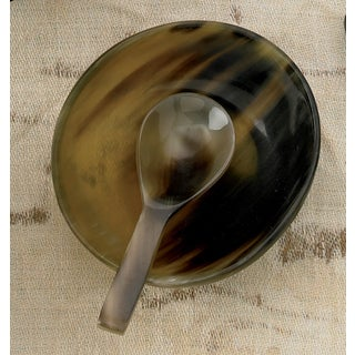 Natural Horn Bowl with Horn Spoon
