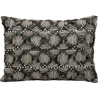 kathy ireland by Nourison Silver Black 10 x 14 Throw Pillow