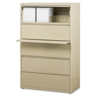 Lorell Putty 42-inch 5-drawer Lateral File