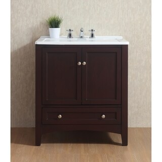 Stufurhome 30.5-inch Espresso Laundry Utility Single Sink