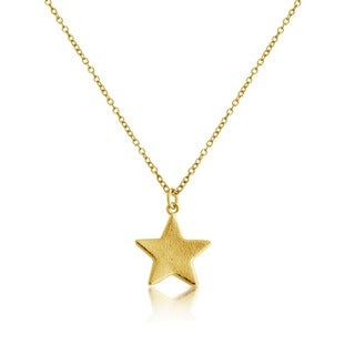 14k Gold Overlay Small Star Pendant Necklace