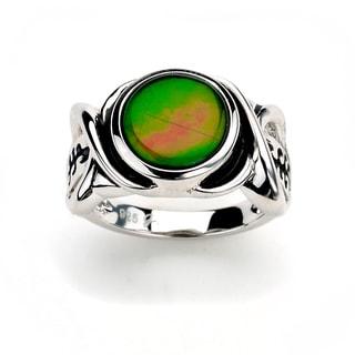 Samuel B. Royal Bali Sterling Silver Multicolor Ammolite Ring