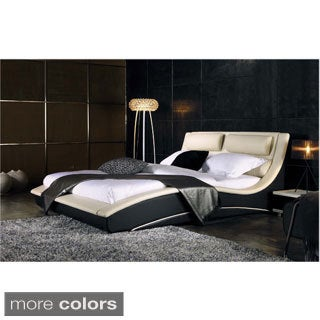 Normandy Eco-leather Modern Platform Bed