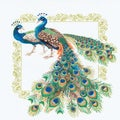 Peacocks Counted Cross Stitch Kit-18.875