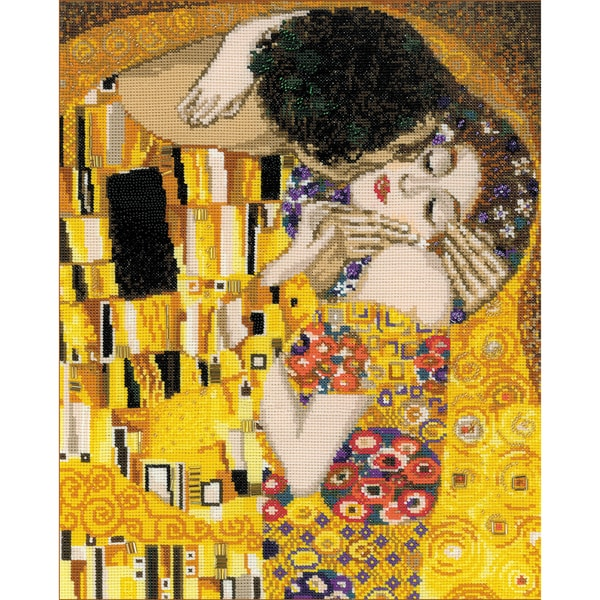 "The Kiss/G. Klimt's Painting Counted Cross Stitch Kit-11.75""X13.75"" 14 Count 13517932"