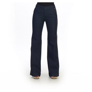 Hadari Women's Denim Flared Pants
