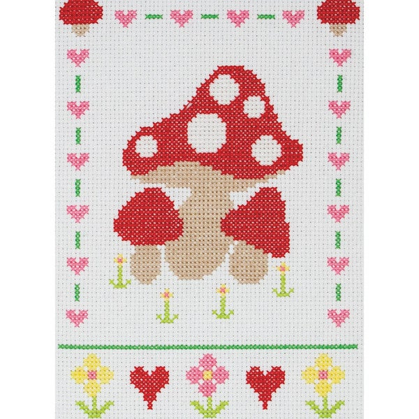 """Mushrooms Starters Counted Cross Stitch Kit-9""""X6-1/4"""" 11 Count"""