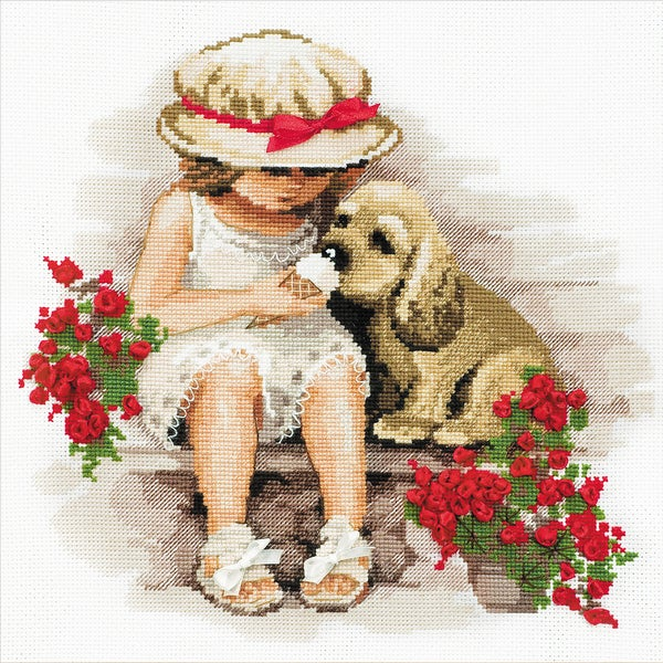 "Sweet Tooth Counted Cross Stitch Kit-11.75""X11.75"" 14 Count"