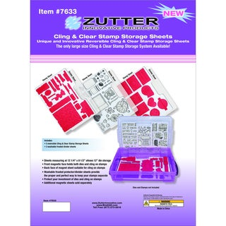Zutter Cling & Clear Stamp Sheets 3/Pkg-3 Cling Sheets + 3 Dividers