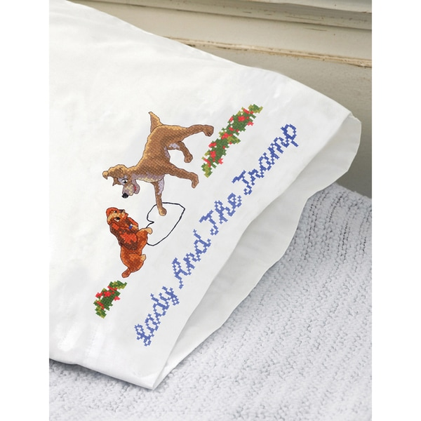 "Disney Dreams 20""X30"" Stamped Pillowcase 2/Pkg-Lady And The Tramp"