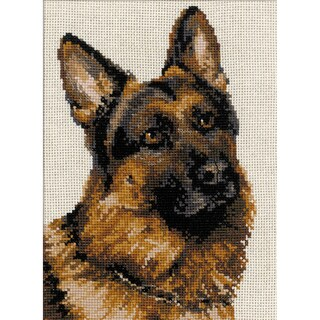 "German Shepherd Counted Cross Stitch Kit-9.5""X11.75"" 10 Count"