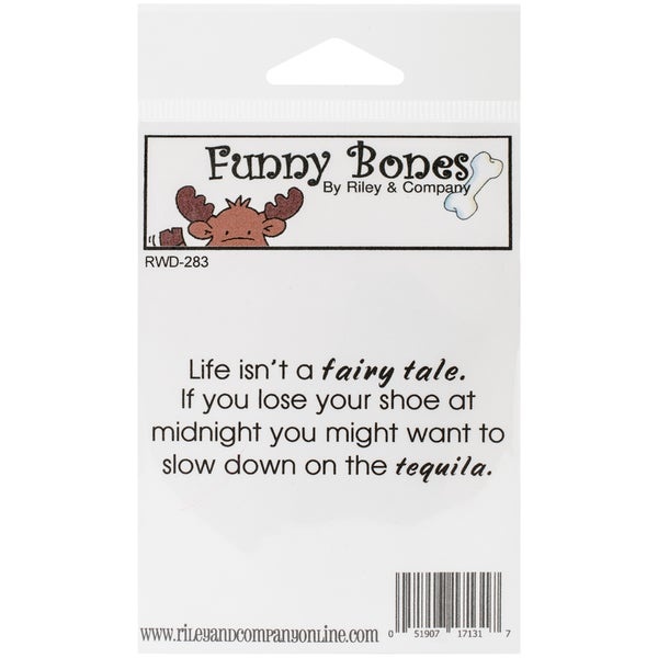 "Riley & Company Funny Bones Cling Mounted Stamp 3""X1""-Losing Your Shoe"