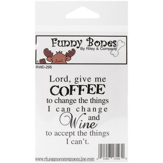"""Riley & Company Funny Bones Cling Mounted Stamp 2.25""""X2.5""""-Coffee To Change The Things I Can"""