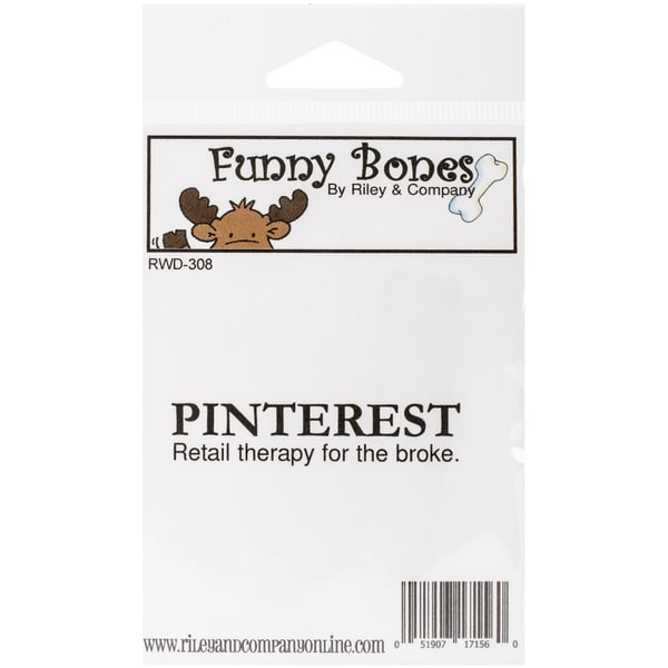 "Riley & Company Funny Bones Cling Mounted Stamp 2.5""X.5""-Pinterest"