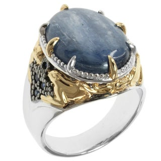 Michael Valitutti Men's Two-tone Kyanite and Blue Sapphire Ring