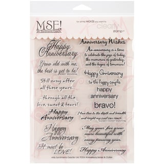 """My Sentiments Exactly Clear Stamps 6""""X8"""" Sheet-Anniversary"""