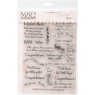 """My Sentiments Exactly Clear Stamps 6""""X8"""" Sheet-Baby"""