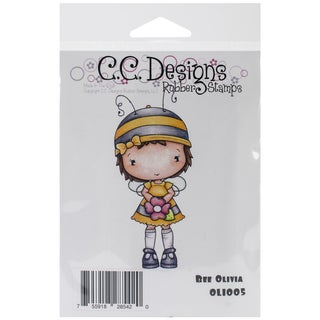 """Olivia's Cling Stamp 4""""X2""""-Bee Olivia"""