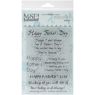 """My Sentiments Exactly Clear Stamps 4""""X6"""" Sheet-Father's Day"""