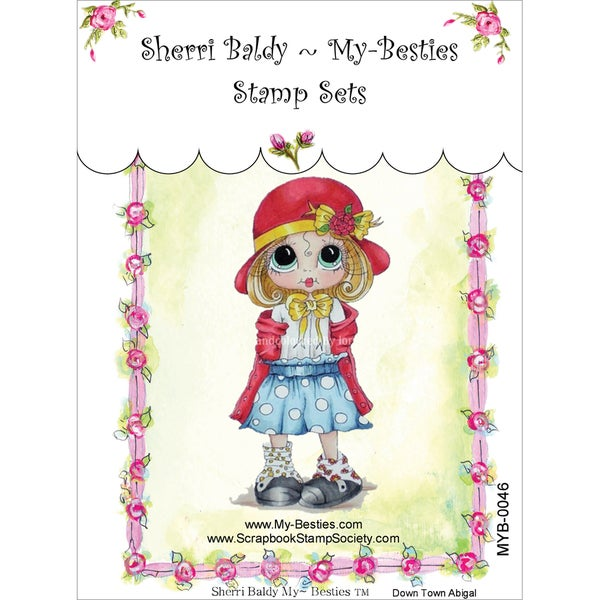 """My Besties Clear Stamps 4""""X6""""-Down Town Abigail"""