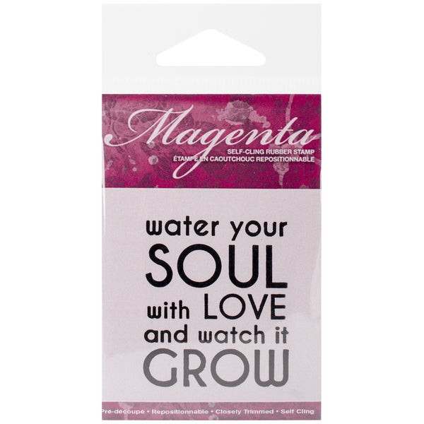 "Magenta Cling Stamps 2.25""X1.75""-Water You Soul"