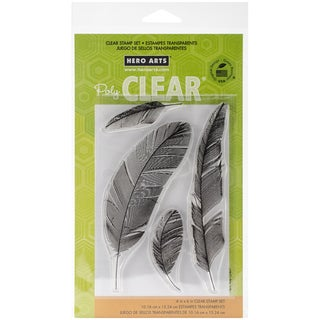 """Hero Arts Clear Stamps 4""""X6"""" Sheet-Feathers"""
