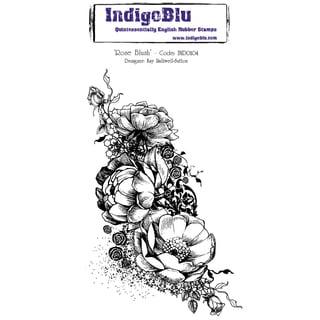 """IndigoBlu Cling Mounted Stamp 5""""X4""""-Rose Blush"""