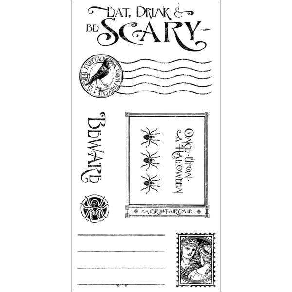 Graphic 45 An Eerie Tale Cling Stamps-Grim Fairytale #3
