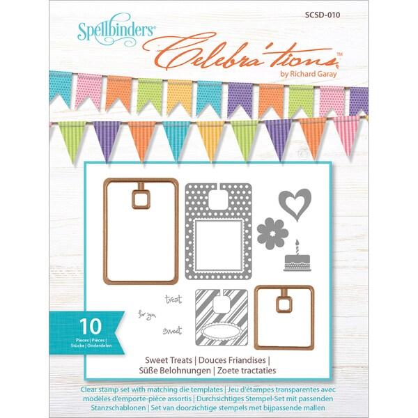 Celebra'tions Dies W/Stamps 10/Pkg-Sweet Treats 13518509